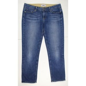 Paige Blue JIMMY JIMMY CROP Medium Wash Jeans